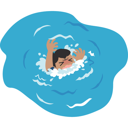 Drowning men 矢量图像