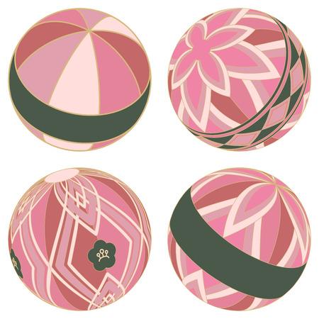 Japanese Temari set (Pink)
