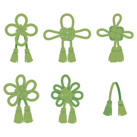 Braid set (green) Illustration