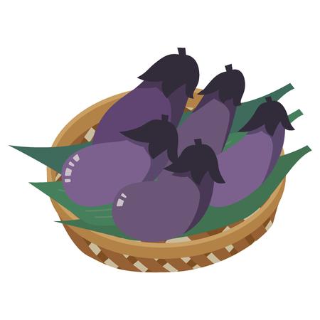 Eggplant isolated on white Иллюстрация