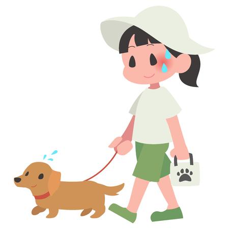 Dog pet walk women summer