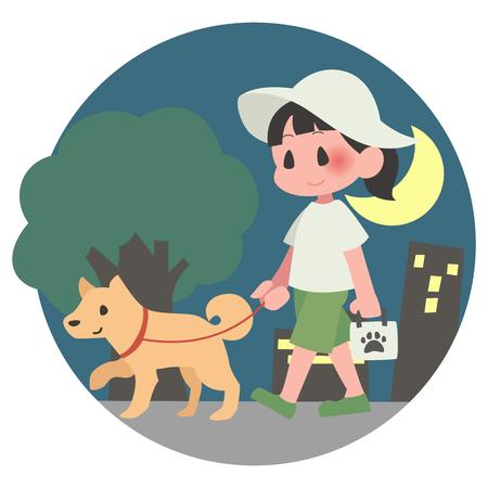 Pet dog-walking ladies night