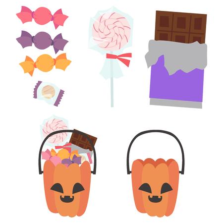 Jack-o-Lantern candy pumpkin set