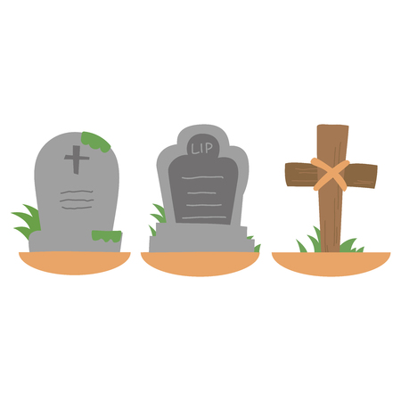 Halloween grave foreign sets  イラスト・ベクター素材