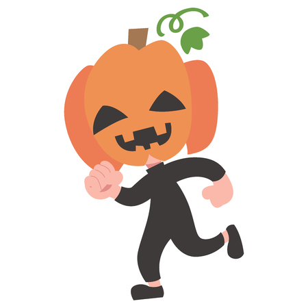 Anime Halloween costume kids one person  イラスト・ベクター素材