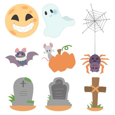 Halloween character set  イラスト・ベクター素材