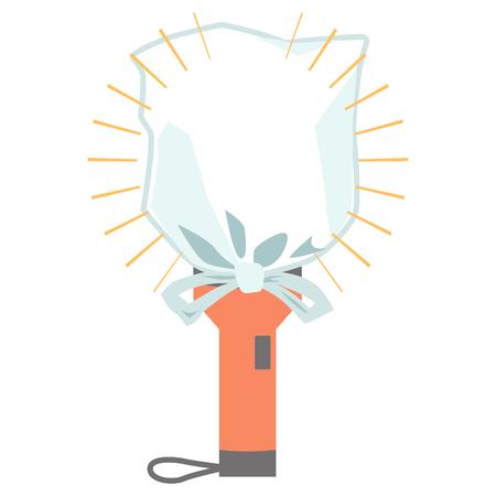 Simple lantern vinyl flashlight