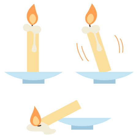 A candle collapses