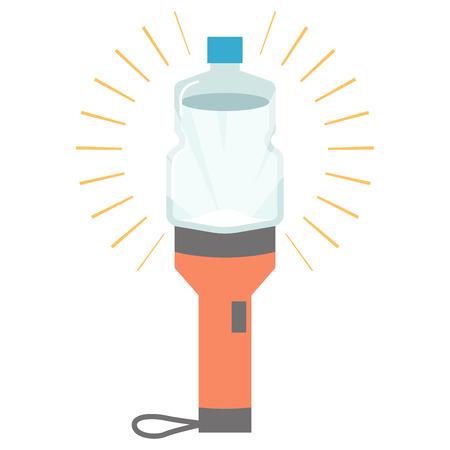 Simple lantern PET bottle flashlight Çizim