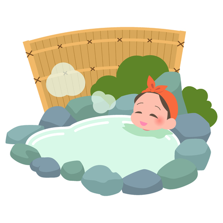 Soak in the hot springs woman