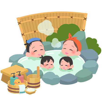 Open-air bath family