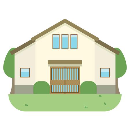 Residential home Illustration