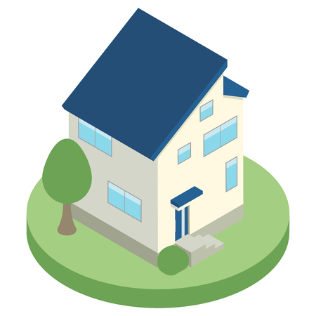 House housing isometric  イラスト・ベクター素材