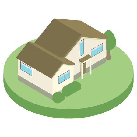 House housing isometric Illustration