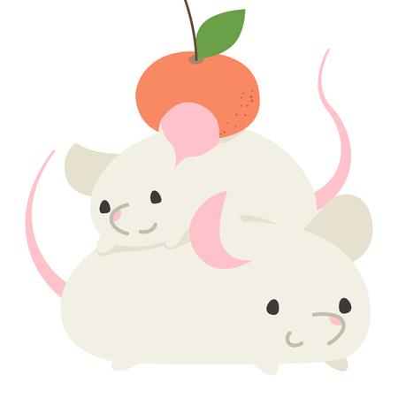 New year rat  イラスト・ベクター素材
