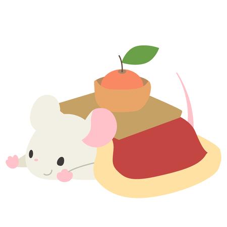 Mouse in a kotatsu