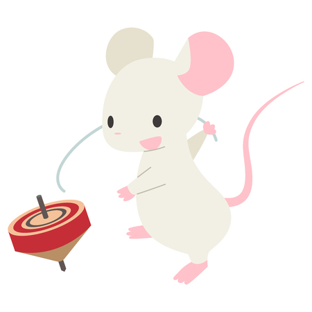 Mouse spinning tops  イラスト・ベクター素材
