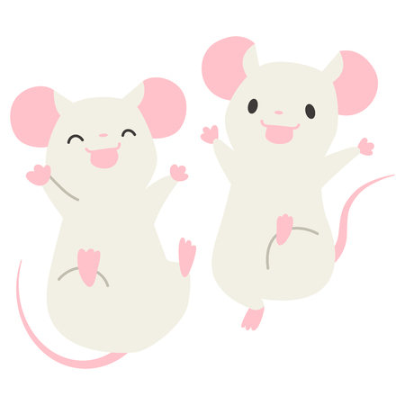 Jumping mouse  イラスト・ベクター素材