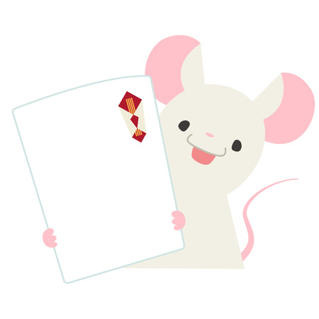 Mice with gift wrapping paper  イラスト・ベクター素材