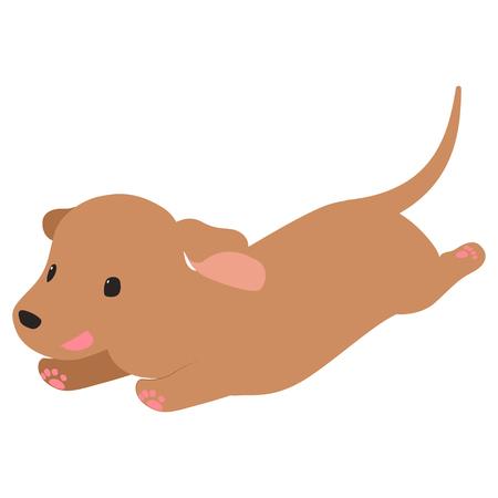 Dachshund run illustration  イラスト・ベクター素材