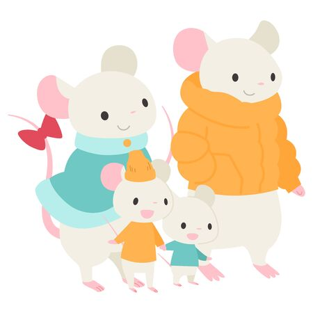 Family of mice, four.