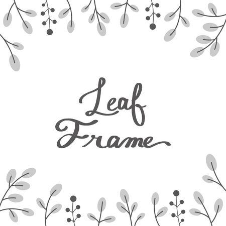 Botanical frame 일러스트