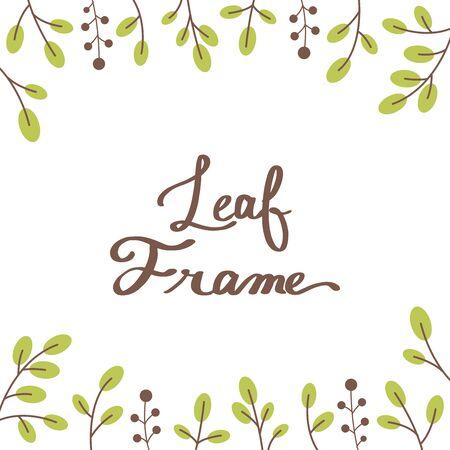 Botanical frame Ilustração