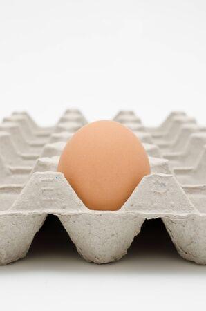 no cholesterol: egg in tray