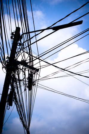 wire mess: electric wire mess