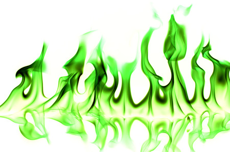 greenflame on white background photo