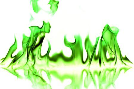 sur fond blanc: GreenFlame sur fond blanc