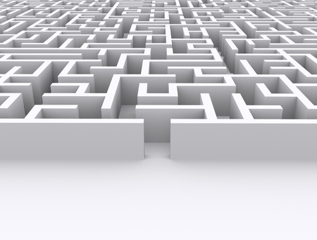 maze isolated on white background