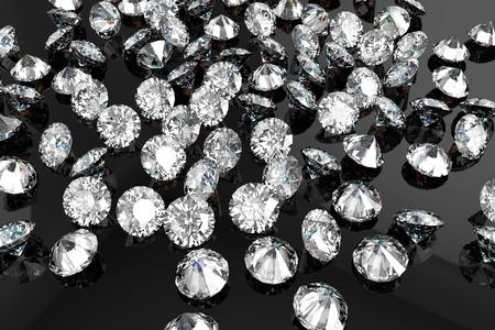 검은 배경에 럭셔리 다이아몬드