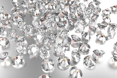 diamante: Diamantes de lujo en los fondos blancos