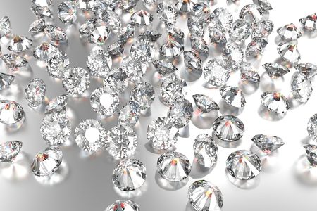 diamond background: Luxury diamonds on white backgrounds