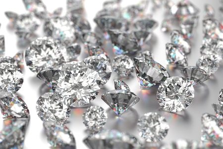 diamond jewelry: Luxury diamonds on white backgrounds