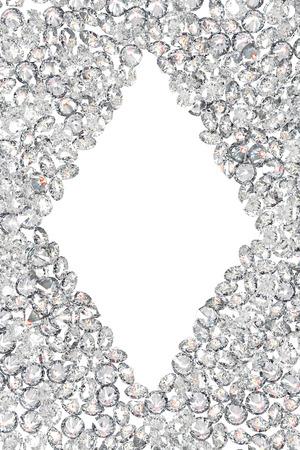 diamond cut: Luxury diamonds frame on white backgrounds