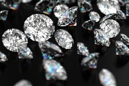 黒の背景に高級ダイヤモンド 写真素材 - 49174830