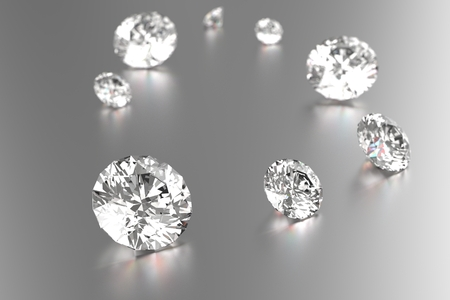 白い背景で豪華なダイヤモンド 写真素材