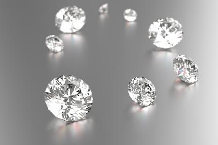 diamond background: Luxury diamonds on white backgrounds