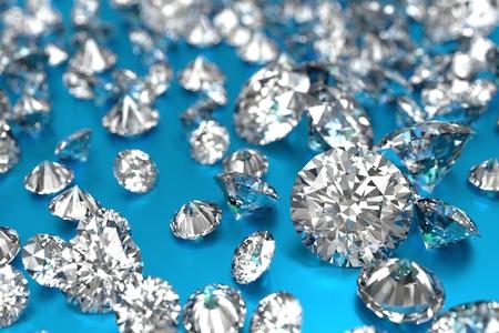 파란색 배경에 럭셔리 다이아몬드