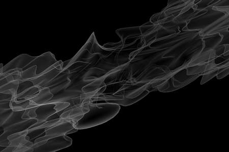 bw: 3d render beautiful abstract BW smoke on black background