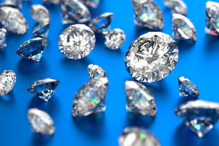 Luxury diamonds on blue background 版權商用圖片