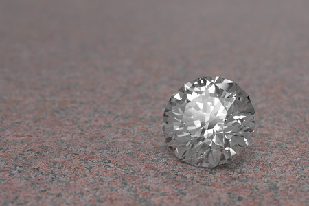 3D rendering Luxury diamonds on marble background Standard-Bild