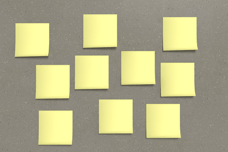10 yellow sticky note on background
