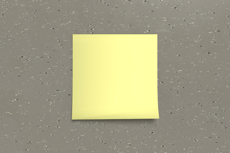1 yellow sticky note on background Stock Photo