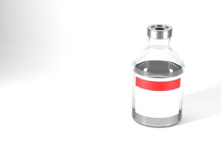 3d rendering vaccine bottle