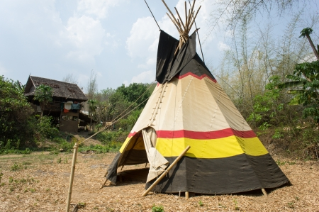 plains indian: teepee in northern Thailand