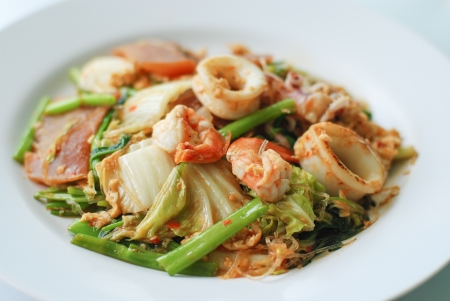 fried seafood Sukiyaki photo