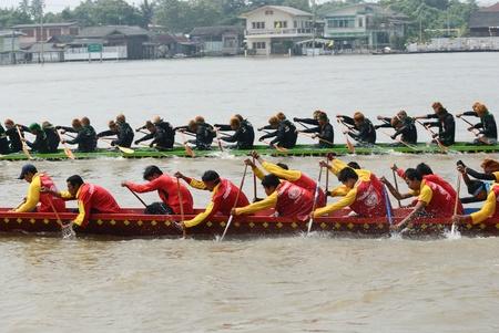 Longboat racing Traditional Culture ,Nonthaburi,Thailand Stock Photo - 15317711